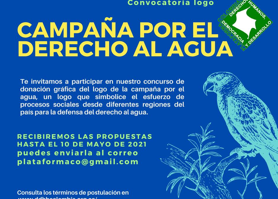 Concurso para la elección del logo oficial de la Campaña Nacional por el Derecho al Agua en Colombia