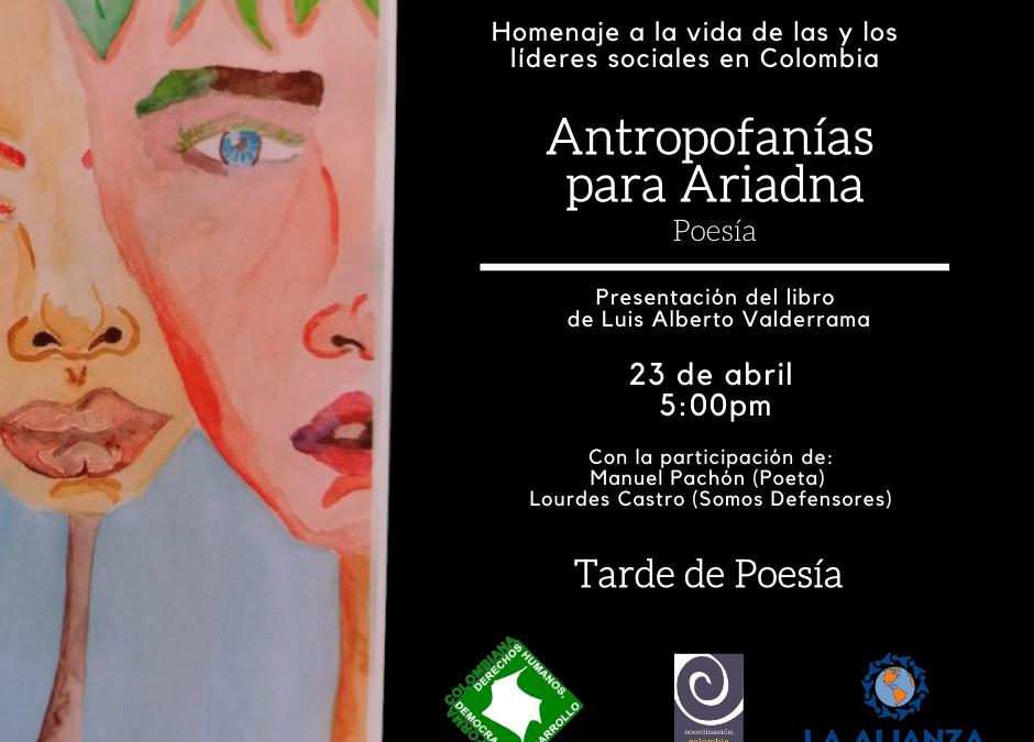 Presentación libro Antropofanías de Ariadna