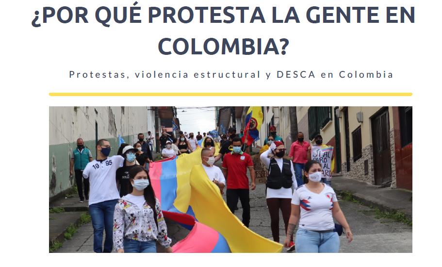Informe ¿Por qué protesta la gente en Colombia?