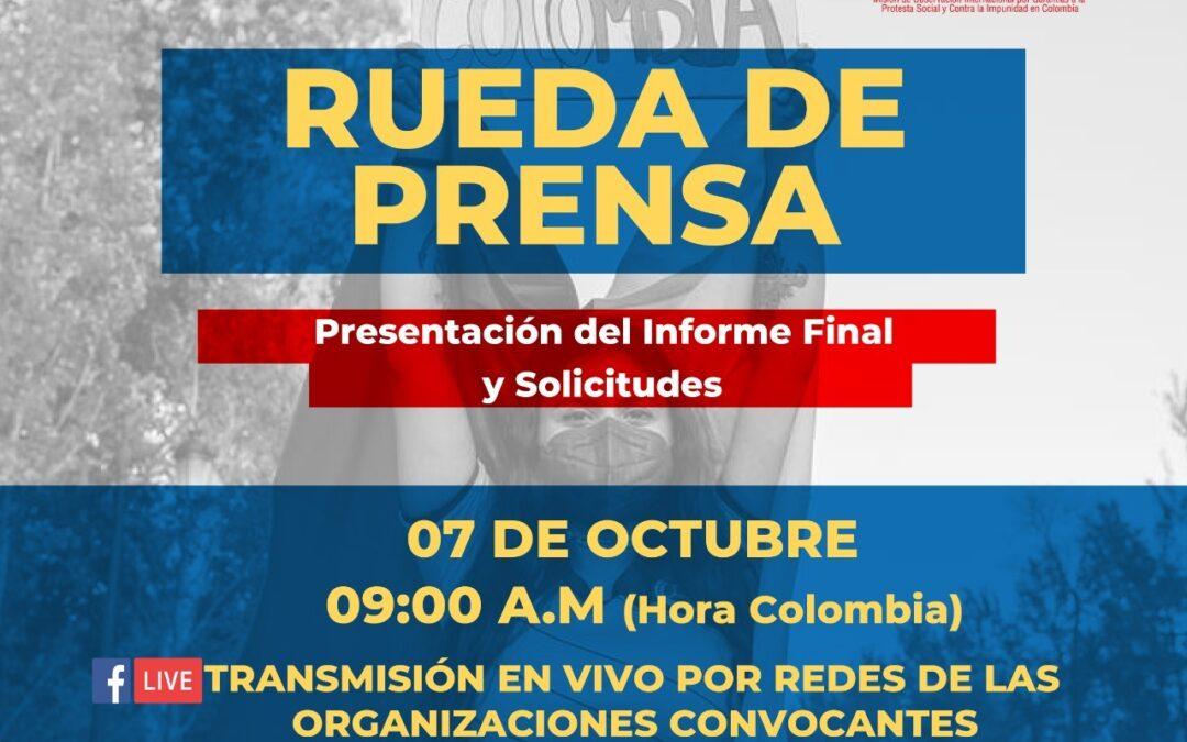 La Misión SOS Colombia entrega informe final